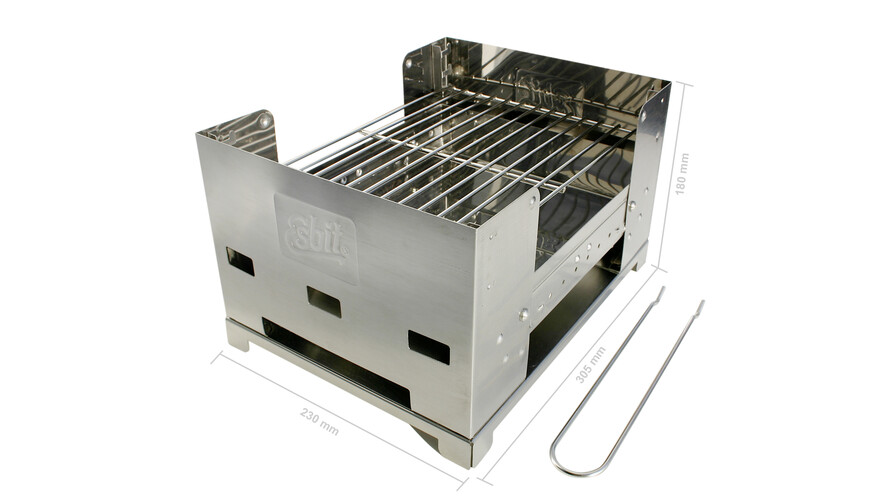 Box d'Esbit - Barbecue - gris